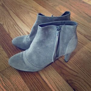 Johnston and Murphy suede gray booties.